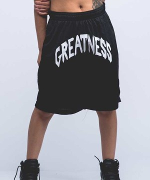 Black-Greatness-Shorts-front